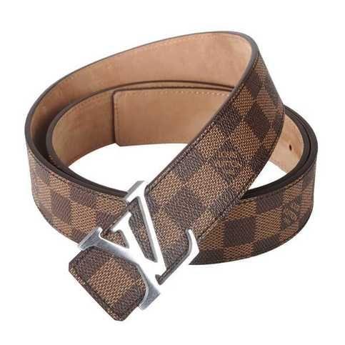 4d7f63aa47be (Description) Louis Vuitton Belt With Gold LV Initials Belt Buckle.  Although NOT an