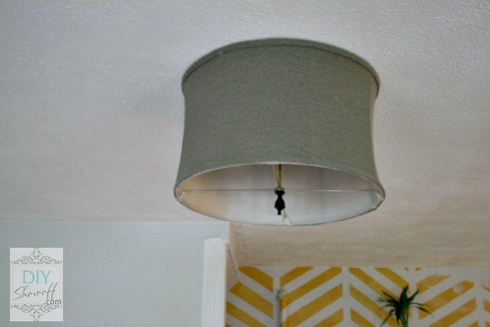 Diy Ceiling Mount Drum Shade Light Fixture Tutorial