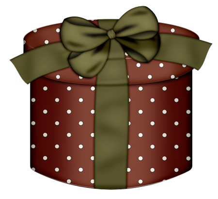 Round Gift Box with Gren Bow Clipart Round gift boxes
