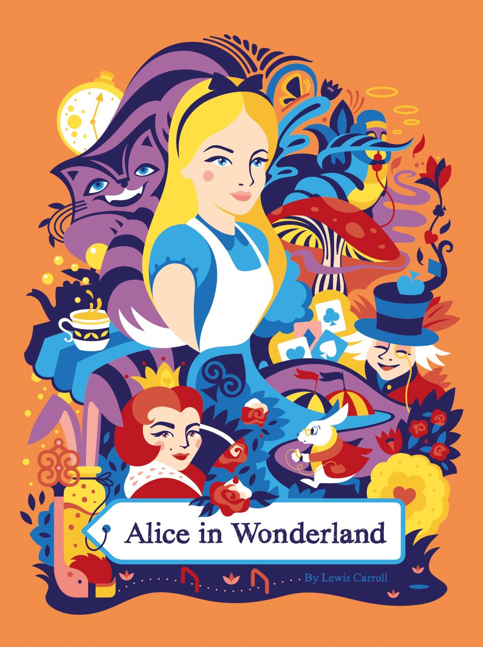 Alice In Wonderland Classic Book Cover ~ Alice in wonderland — book cover sneaky raccoon