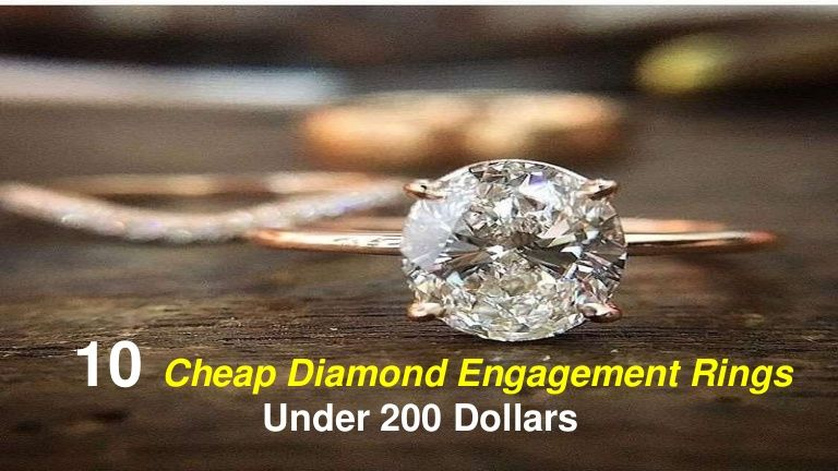 10 Cheap Diamond Engagement Rings Under 200 Dollars Beautiful