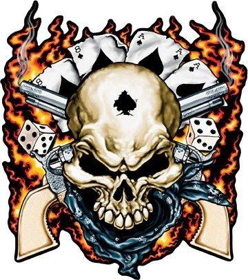Outlaw Cowboy Skull Outlaw cowboy skull guns