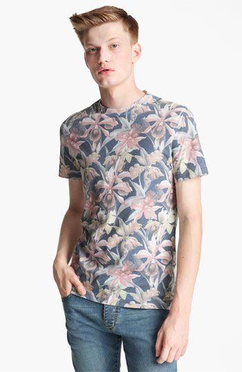 dd2a9af1dd0a1 Topman  Moody Floral  Print T-Shirt