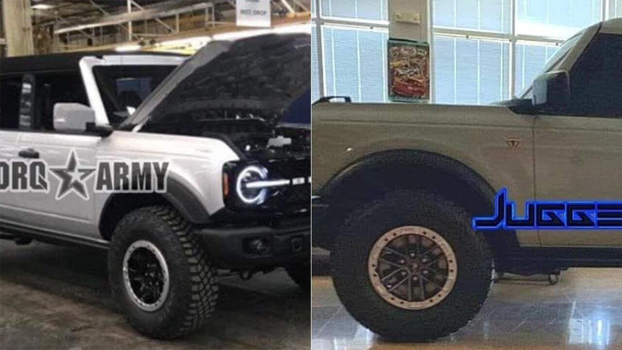 This is probably the 2021 Ford Bronco before you're
