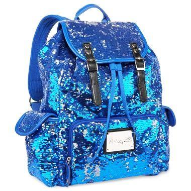 Betseyville Sequin Backpack - Betseyville Blue Sequins Backpacks ...