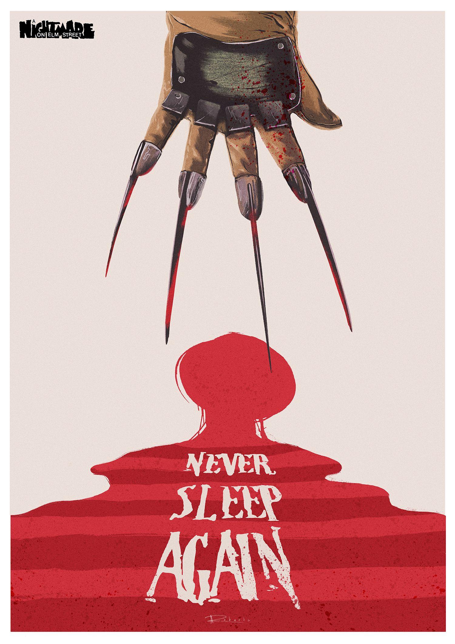 Nightmare On Elm Street Minimalist Alternative Poster