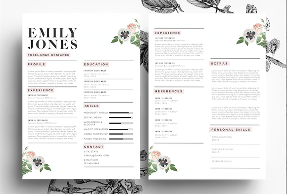 Professional Cv Psd  Word By EmilyS Art Boutique On Creative