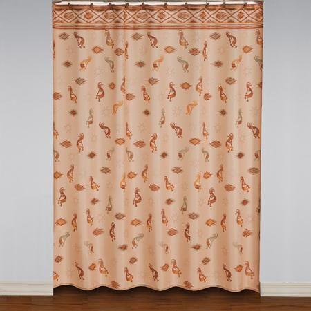 Mainstays Kokopelli Fabric Shower Curtain Fabric Shower Curtains Curtains Shower Curtain