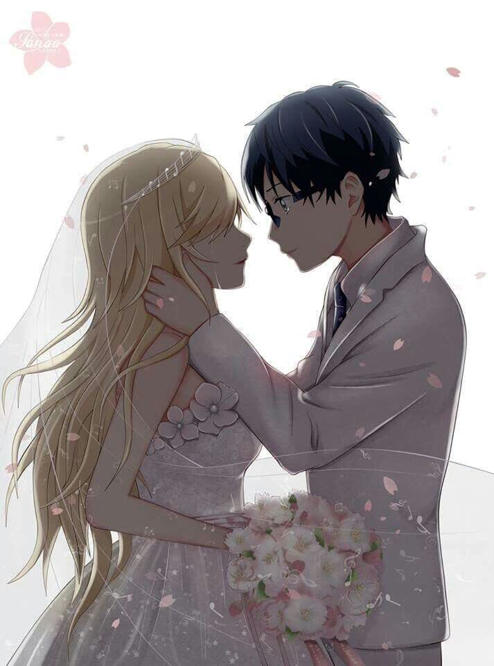 Kaori and Kousei /Shigatsu Wa Kimi No Uso Your Lie In April/ I really wished this could have happened.....