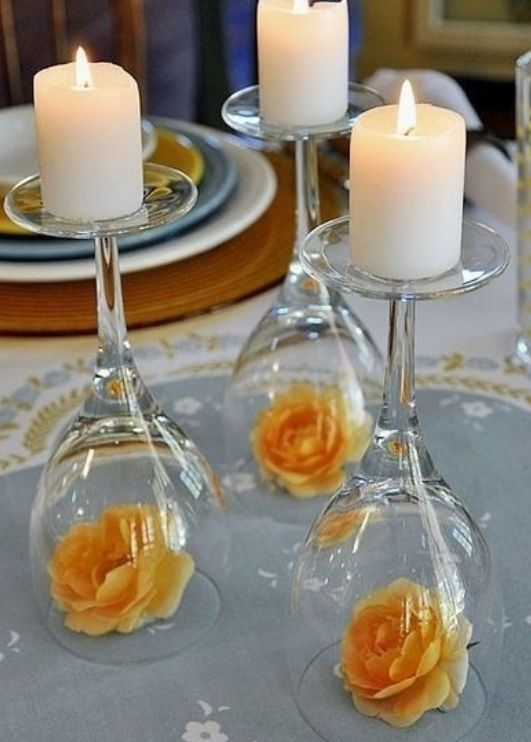 Diy candle holders set a romantic evening party ideas pinterest diy candle holders set a romantic evening solutioingenieria