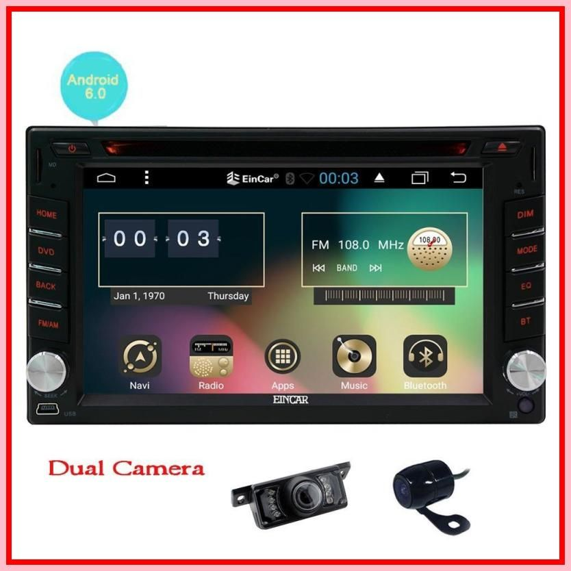 New Front Camera Backup Camera Upgrade Android 6 0 Car Dvd Player Double Din Car Stereo System 6 2 In Car Stereo Systems Double Din Car Stereo Upgrade Android