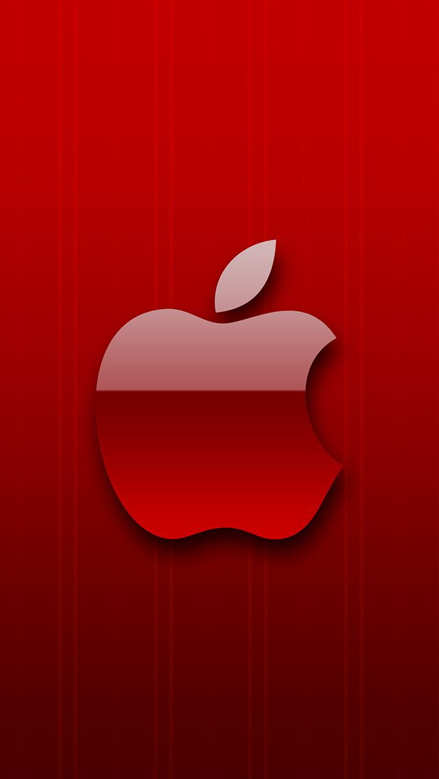 Red Apple Logo Wallpaper : apple, wallpaper, Red-Apple-3Wallpapers-iPhone-5, Apple, Wallpaper,, Wallpaper, Iphone,