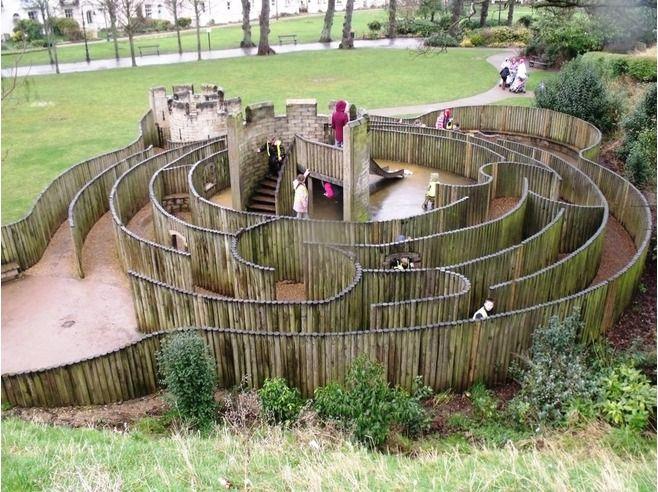 Children's maze Dane John Gardens, Canterbury ...