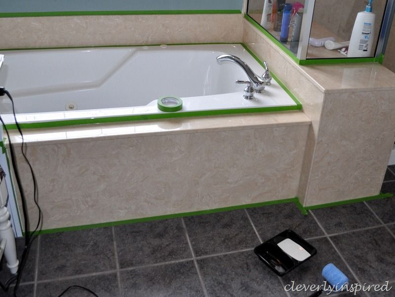 How To Paint Cultured Marble Marble Tub Refinish Bathtub Cultured Marble