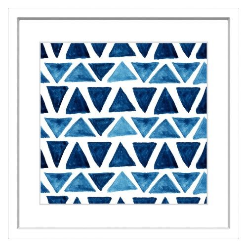 Marmont Hill Blue Triangle Bows Framed Painting Wall Art Print Multi Painting Frames Wall Art Prints Wall Painting
