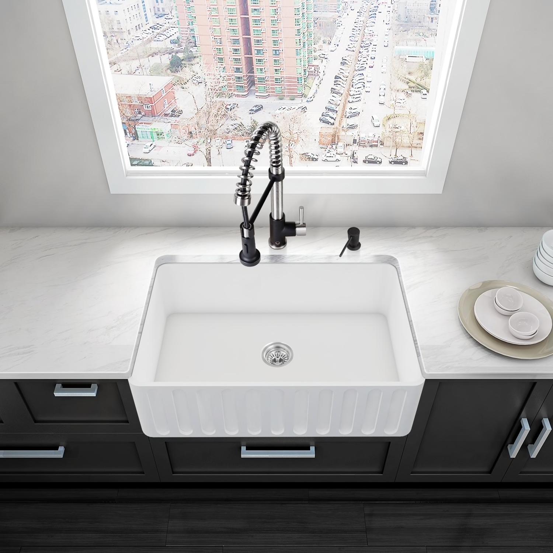 39++ Vigo farmhouse kitchen sink type