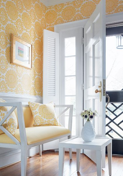 Thibaut Wallpaper Solis in Yellow (T10086) from the new