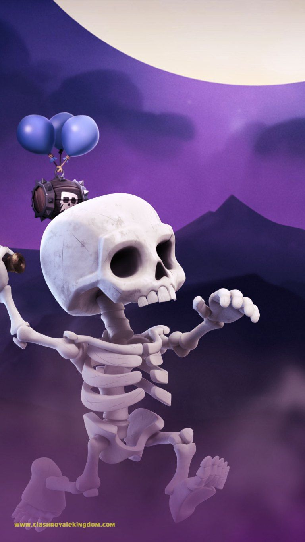 Running Skeleton Clash Royale Wallpaper - Clash Royale Kingdom