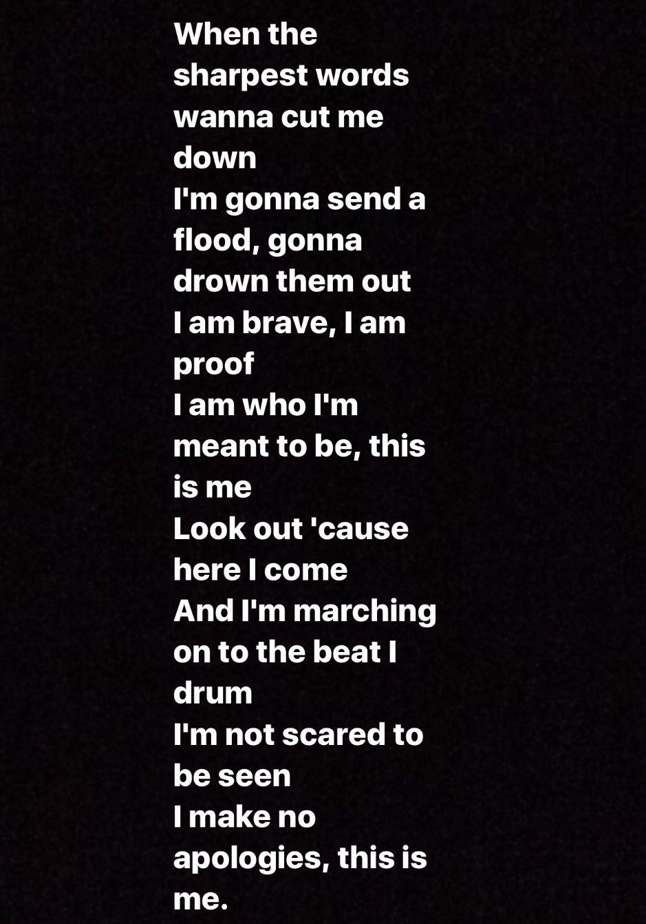 Lyrics This Is Me