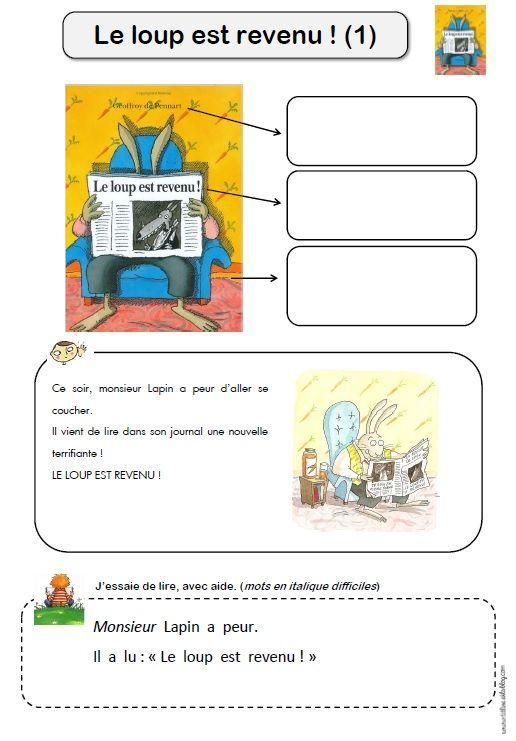 Le Loup Est Revenu Maternelle : revenu, maternelle, Idées, Revenu, Loup,, Lecture,, Littérature, Jeunesse