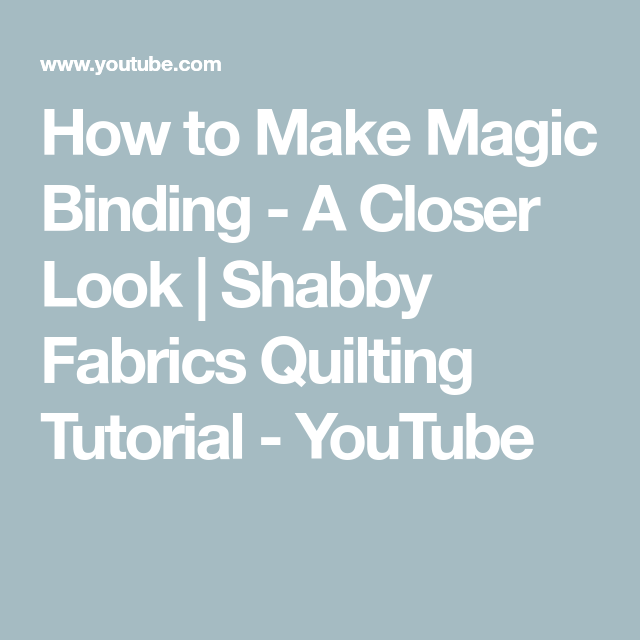 How To Make Magic Binding - A Closer Look