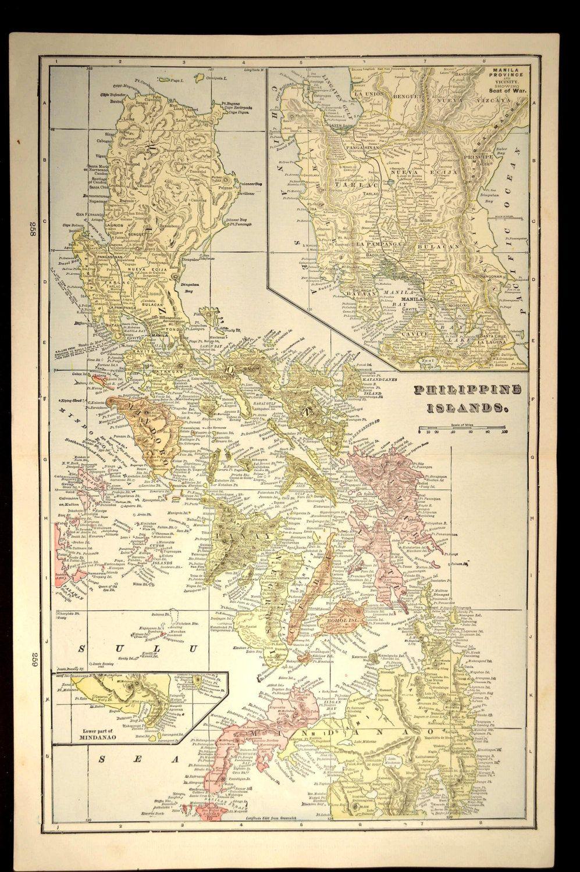 Philippines Map Philippines Philippine Islands Antique | Pinterest ...