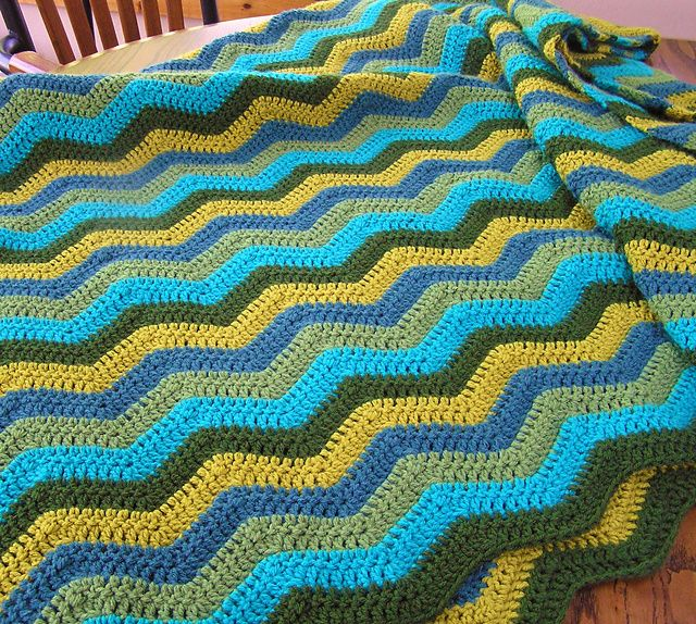 Ravelry Project Gallery For Easy Ripple Afghan Pattern By Susanb