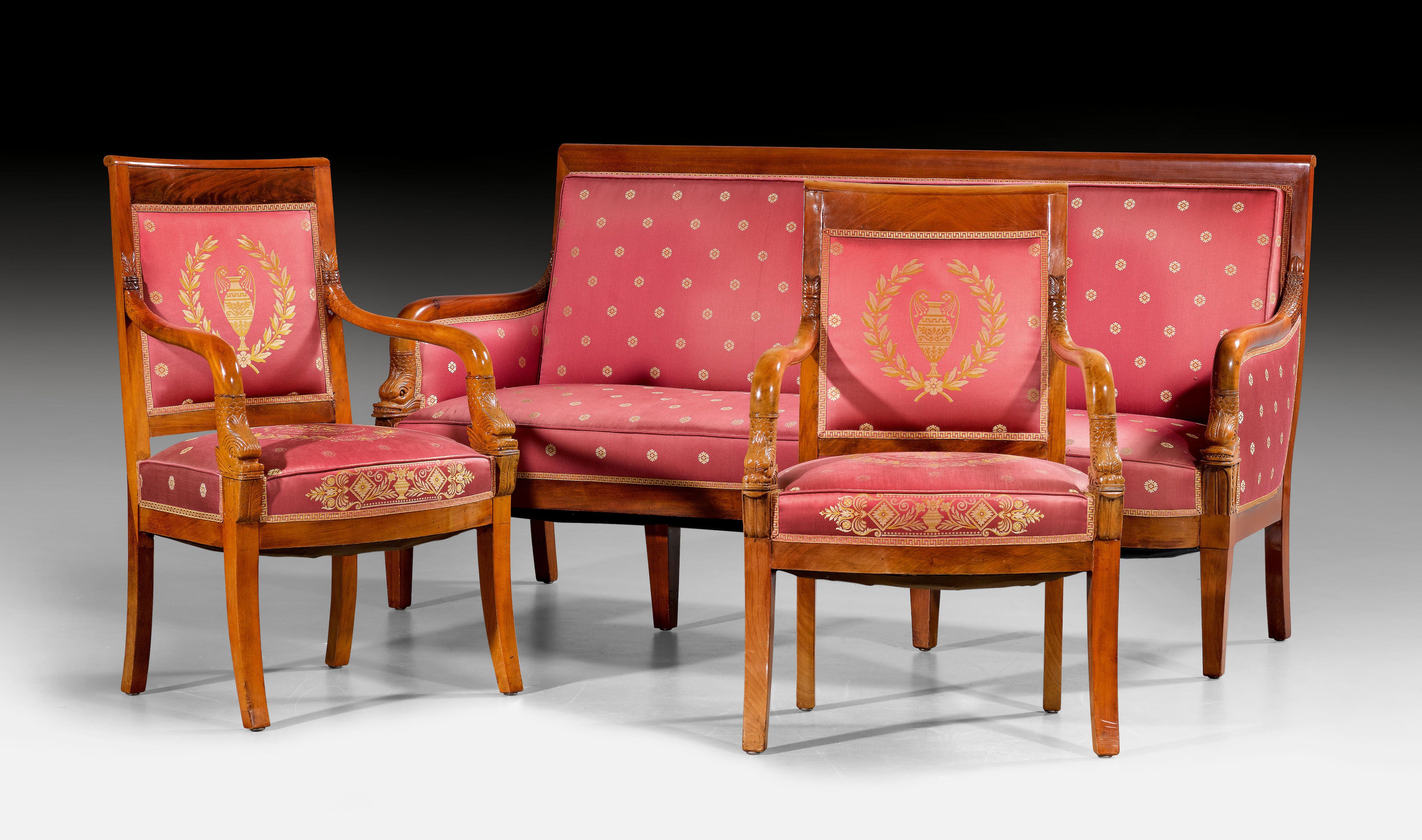 C1810 20 Small Suite Of Furniture Aux Tetes De Dauphins Empire In The Style Of P A Bellange Pierre Antoine Bellange 1758 P Furniture Empire Style Decor