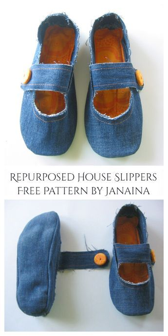 Photo of DIY Repurposed Jean House Slippers Free Sewing Patterns | Fabric Art DIY