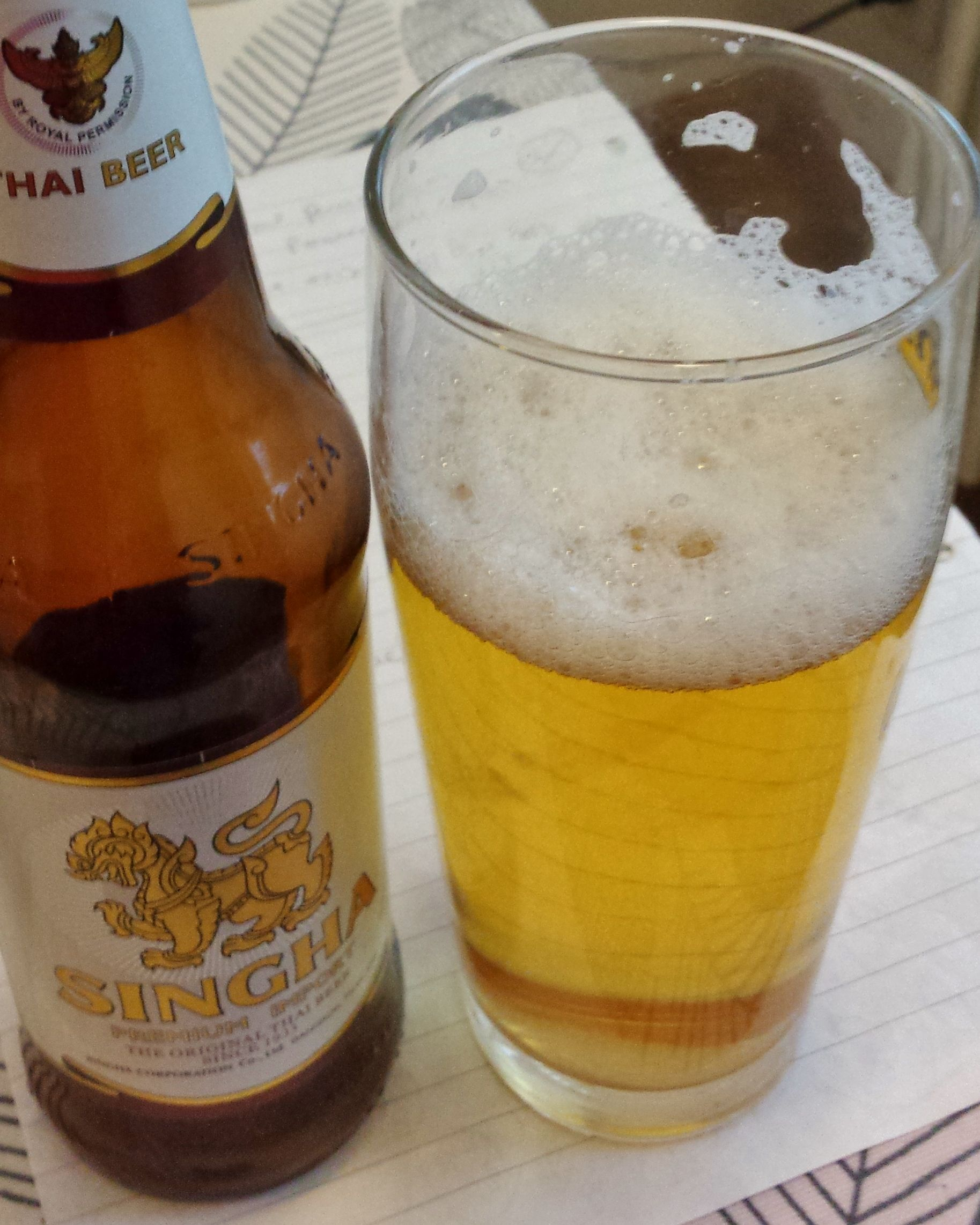 Singha Premium Import.The upmarket Thai beer since 1933