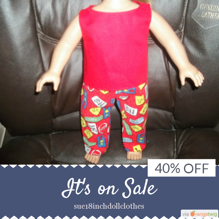 40% OFF on select products. Hurry, sale ending soon!  Check out our discounted products now: https://www.etsy.com/shop/sue18inchdollclothes?utm_source=Pinterest&utm_medium=Orangetwig_Marketing&utm_campaign=july   #etsy #etsyseller #etsyshop #etsylove #etsyfinds #etsygifts #musthave #loveit #instacool #shop #shopping #onlineshopping #instashop #instagood #instafollow #photooftheday #picoftheday #love #OTstores #smallbiz #sale #instasale