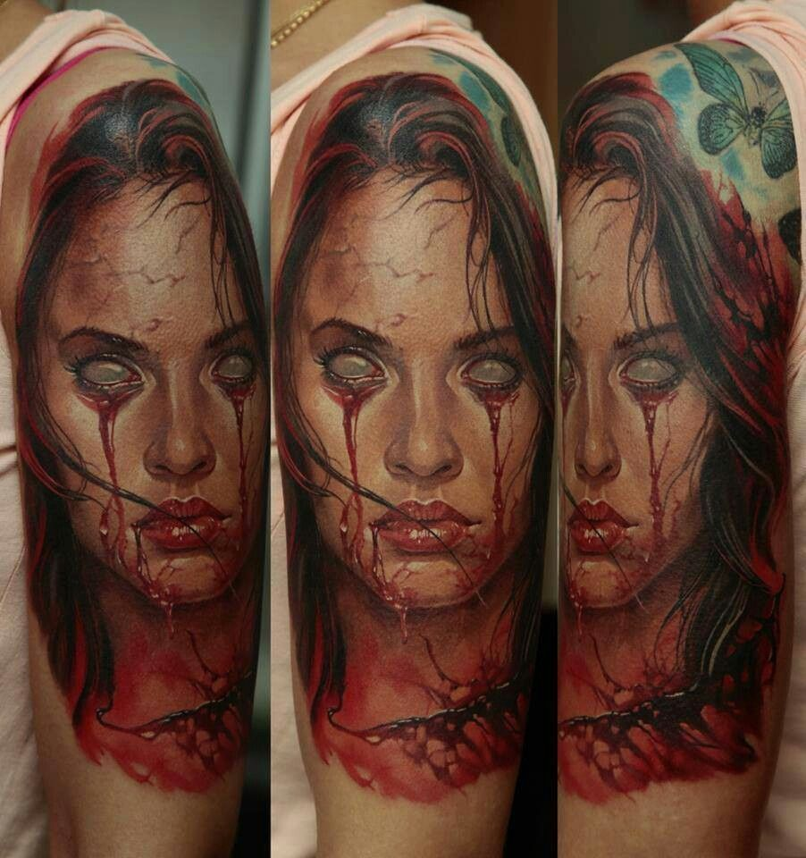 dmitriy samohin horror gore pinterest tattoo. Black Bedroom Furniture Sets. Home Design Ideas