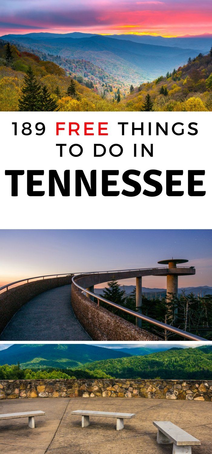 If you are visiting Tennessee make sure you take in some fog the over 180 free things to do in Tennessee. You won't be sorry! #tennessee #OurRoamingHearts #Memphi #Knoxville