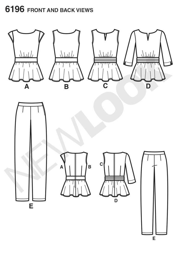 Simplicity Creative Group - Misses\' Top and Pants: | siluetas de ...