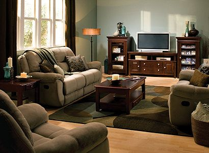 kathy ireland Home® Quinn Casual Microfiber Living Room ...