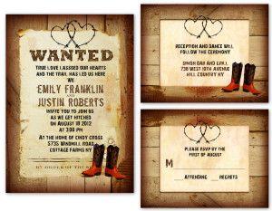 western theme wedding invitation template - Google Search | Angie ...