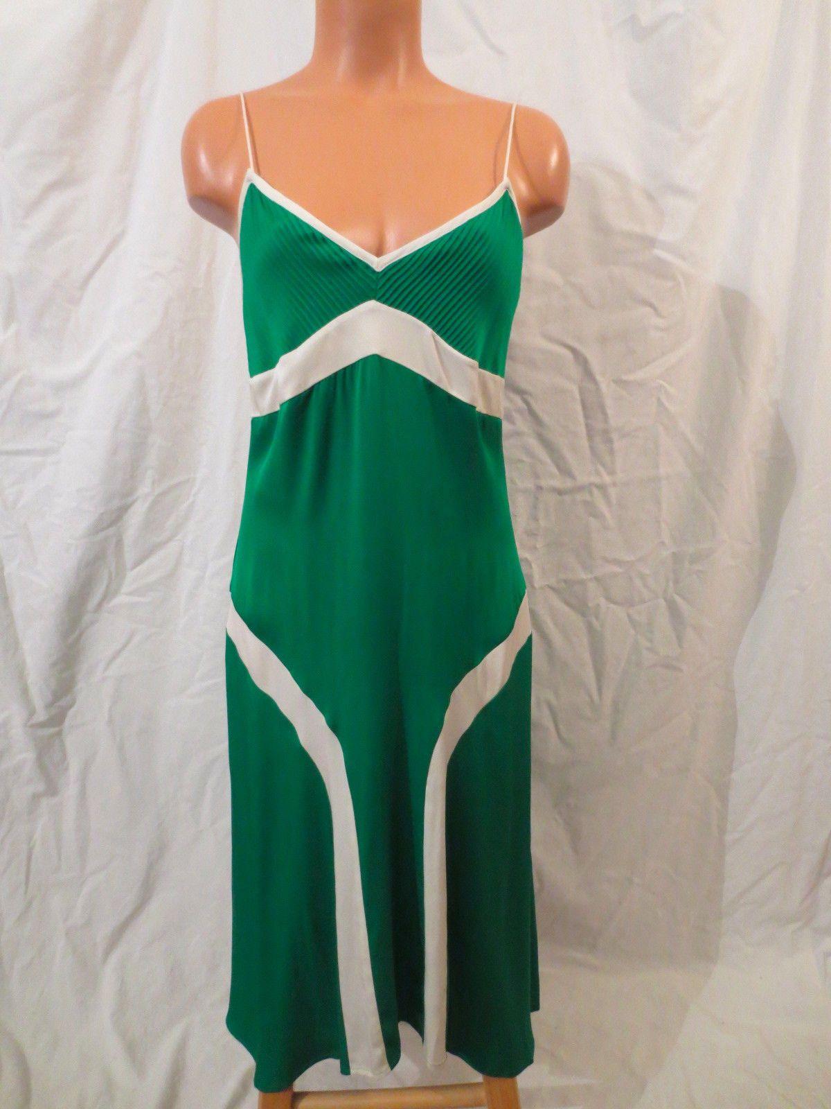 Dvf diane von furstenberg green silk orias dress at johnny