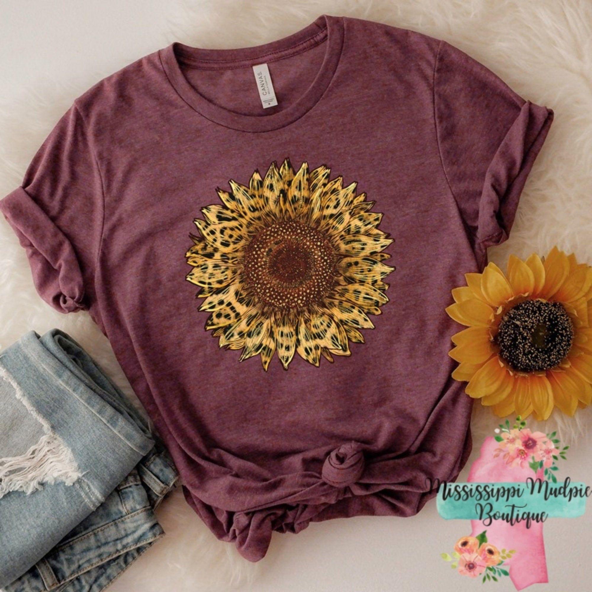 Bleached leopard print sunflower Leopard print girly flowers sunflower cute bleached