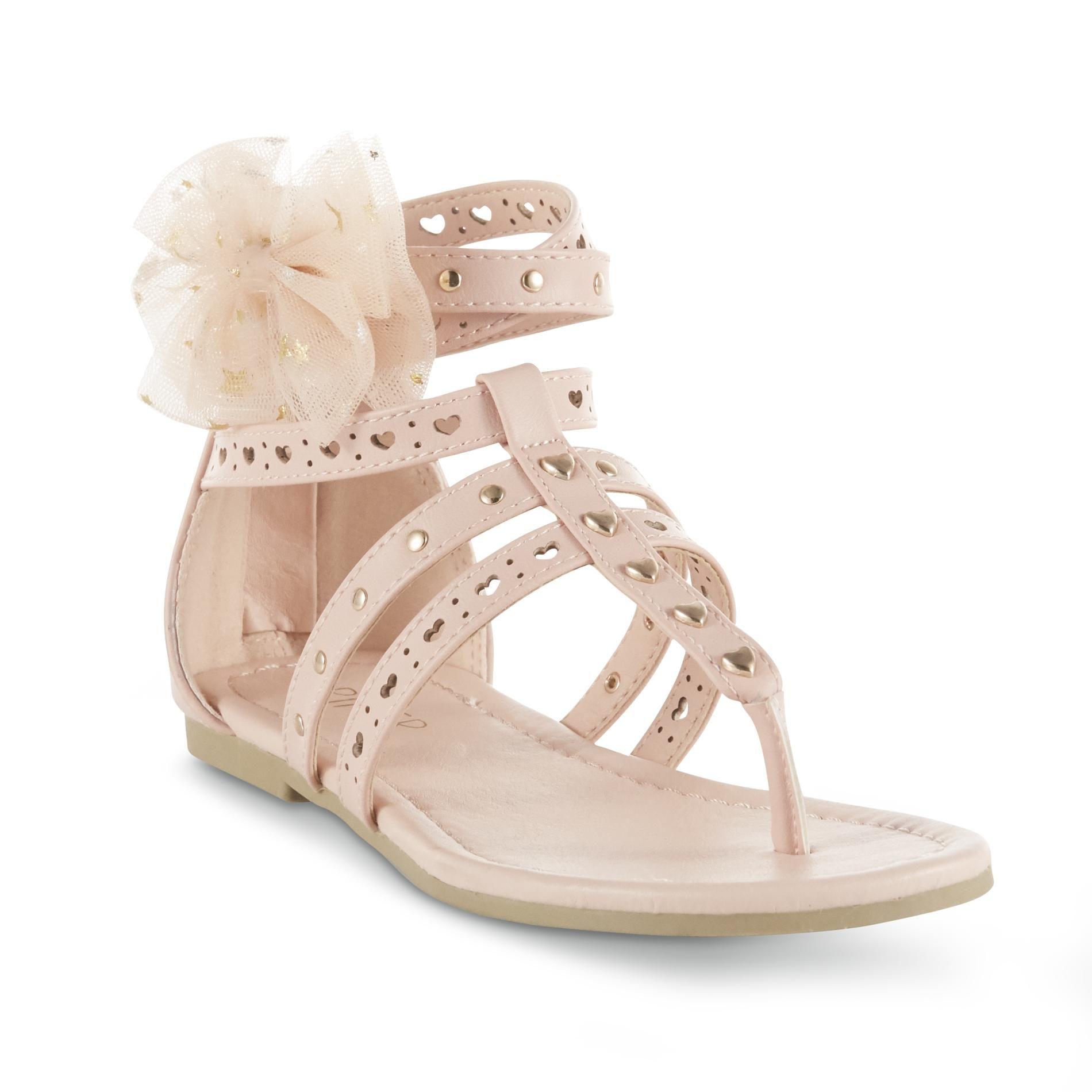 Piper Girls' Charity Gladiator Sandal Blush Pink, 3