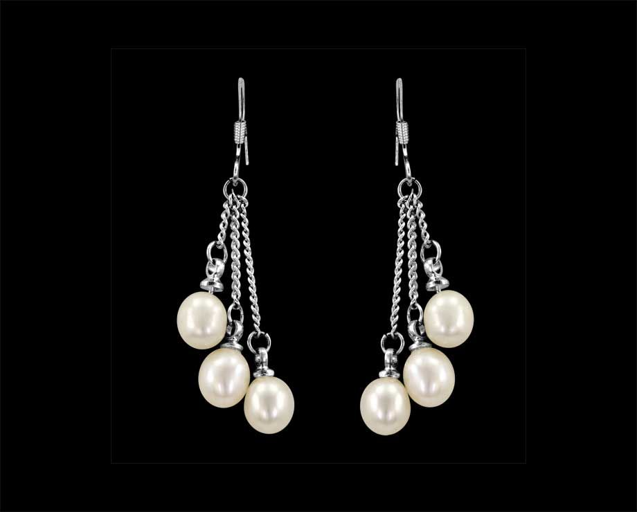 save magda butrym in metallic earrings pearls lyst jewelry