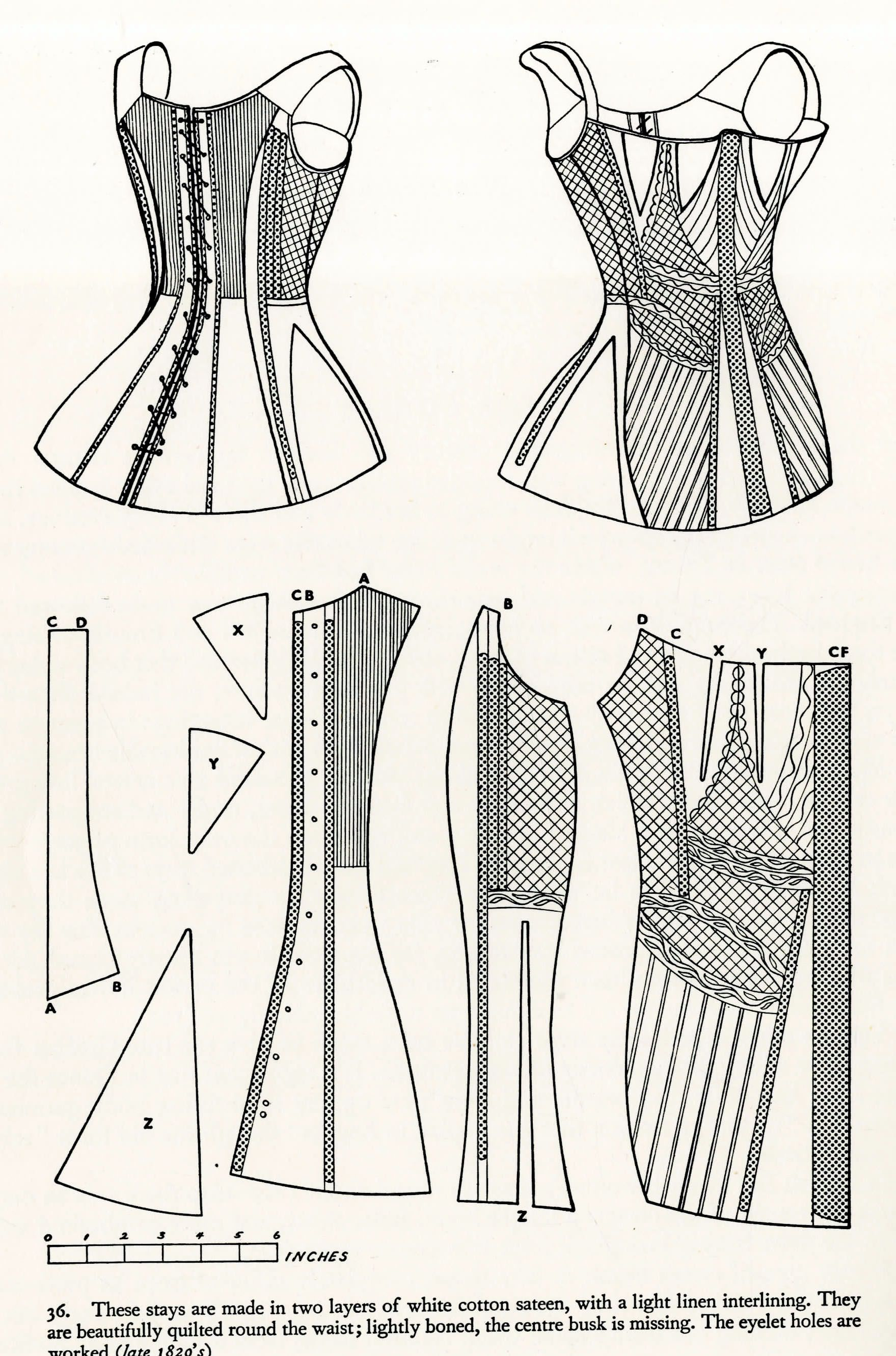 1820er Schnürbrust | Biedermeier: Kleiderstudien | Pinterest ...