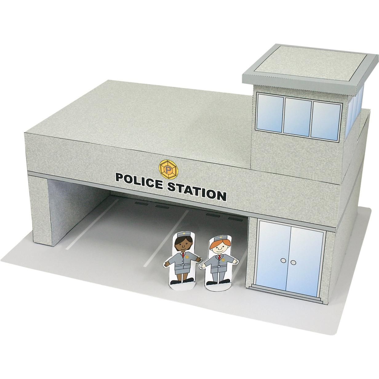 Police Station Toys Paper Craft Town Building Police Town