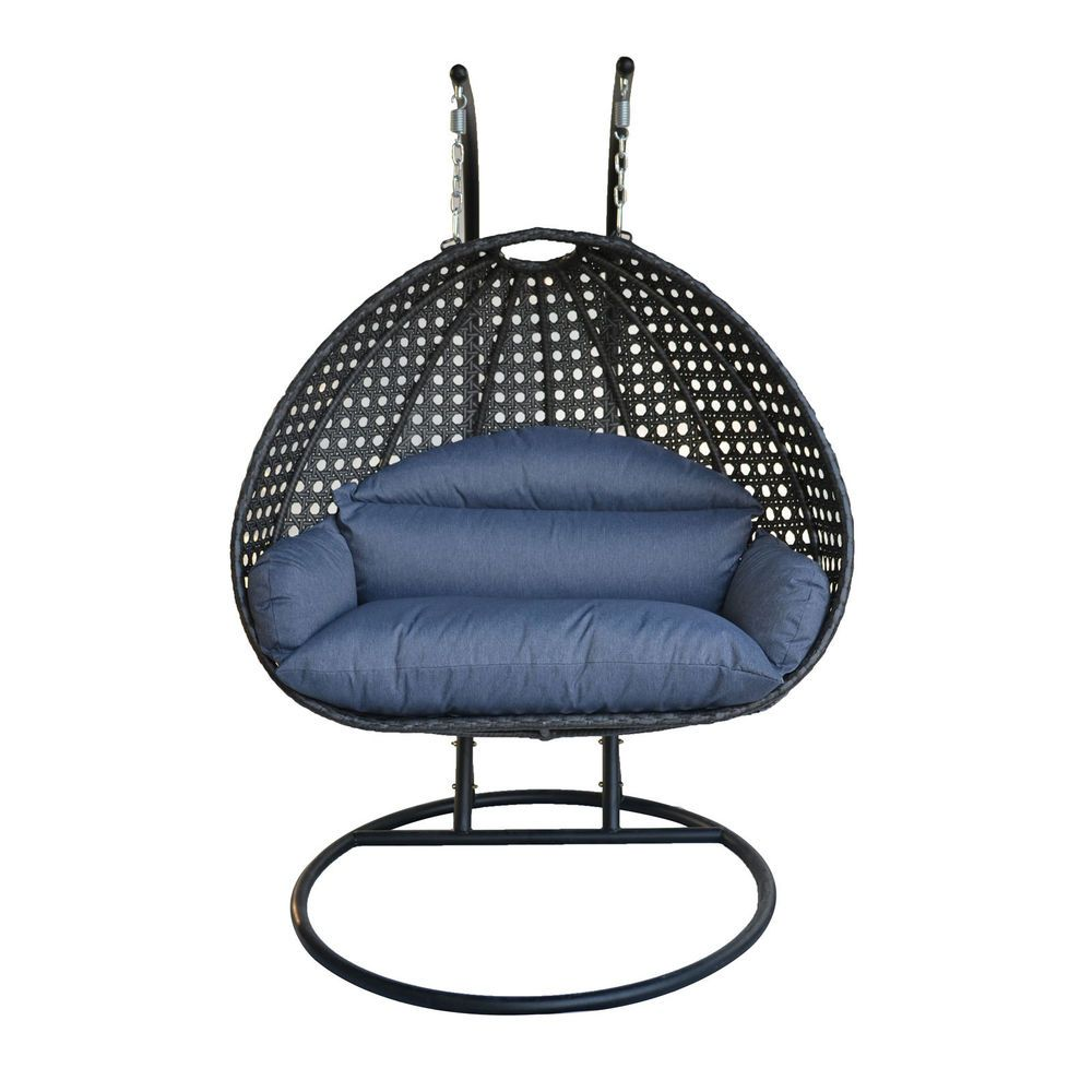 patio hanging egg chair foldable circle 2 person wicker swing furniture outdoor stand hammock s