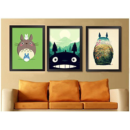 Wood Frame Wall Decals Canvas Prints Totoro Wall Art 17 X 13 Amazon Co Uk Kitchen Home Wall Decals Canvas Wall Canvas Canvas Frame