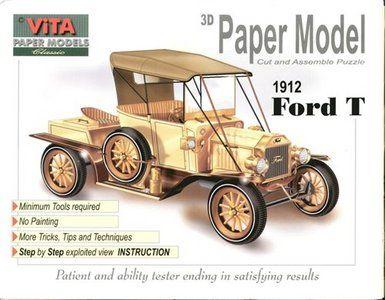 Ford T 1912 Vita Paper Models Free Magazine Download Modelo De Papel Molde De Carro Modelos De Maternidad