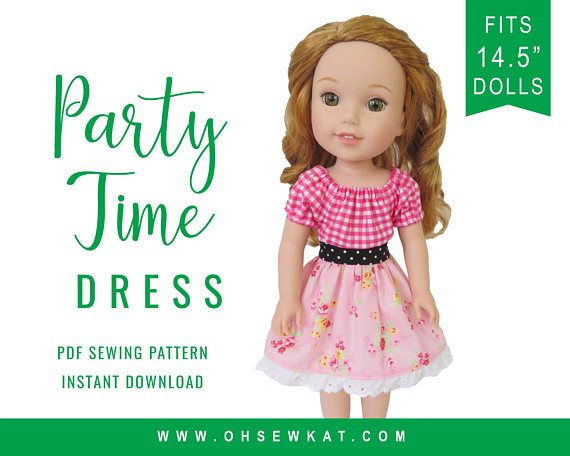 wellie wishers 14 5 inch doll clothes sewing pattern party easy to rh pinterest com