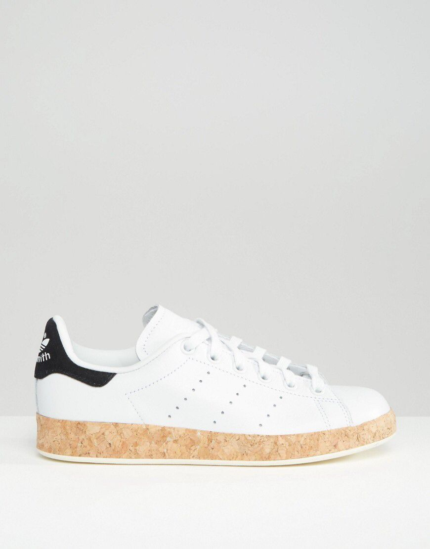 24d6fd151e2 adidas Originals Stan Smith Cork-Sole Sneakers