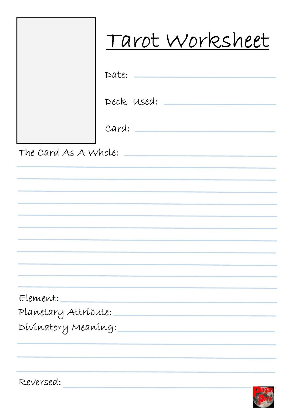 Intrepid image with free printable tarot journal