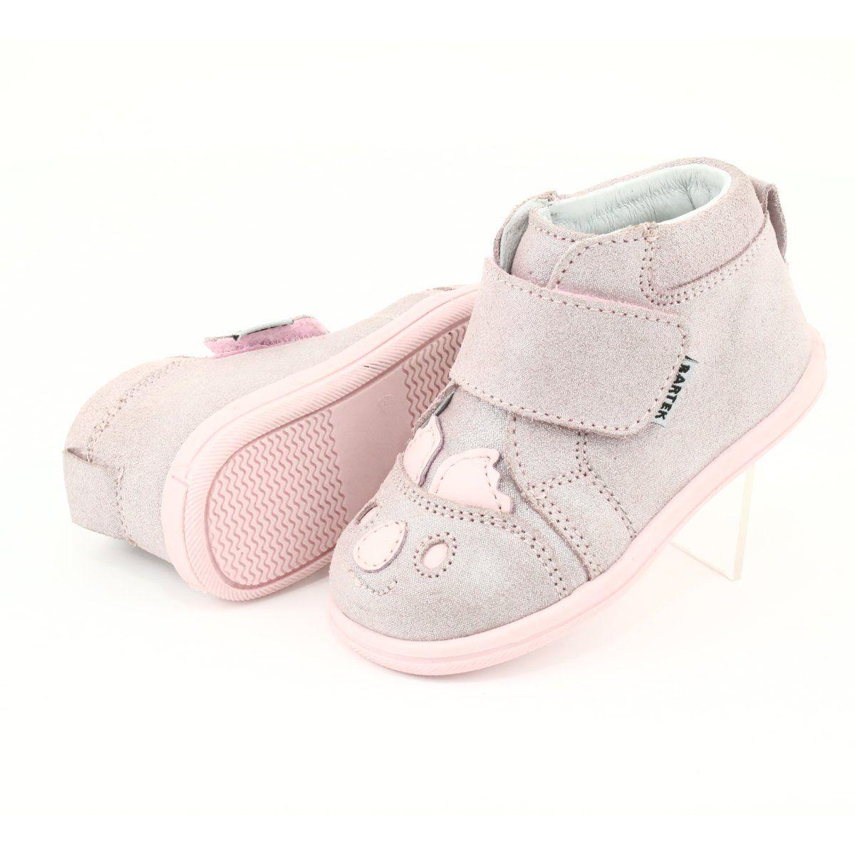 Trzewiki Na Rzepy Koala Bartek 71150 Rozowe Szare Slip On Sneaker Shoes Slip On