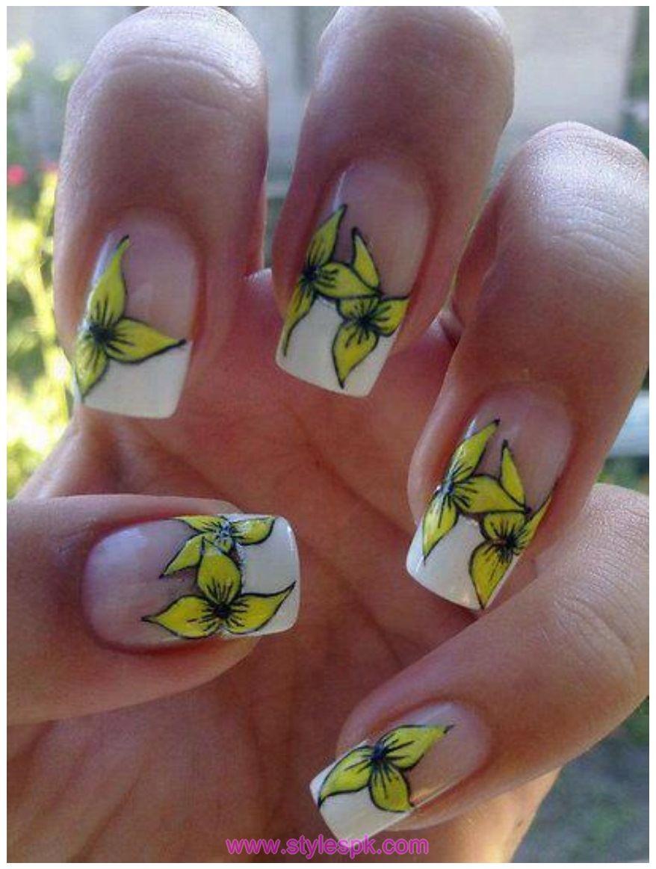 2 Color Nail Art Design http://stylespk.com/best-nail-designs ...